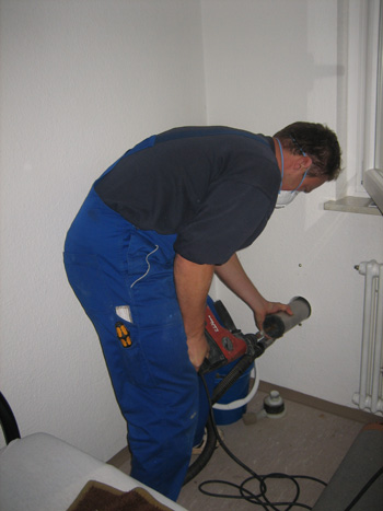 Asbestbohrverfahren innen
